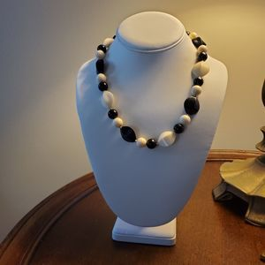 Black and White Short Mod Necklace